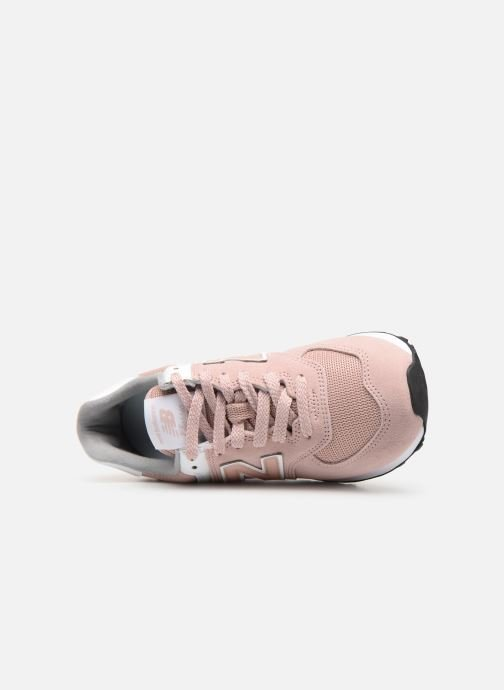 Baskets New Balance WL574 Rose vue gauche