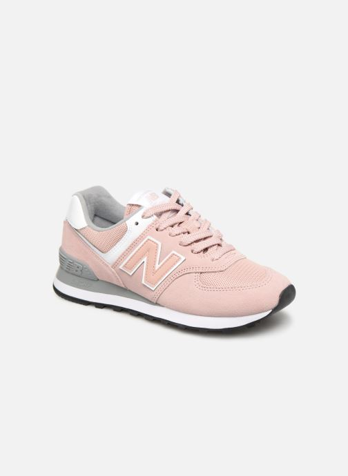 Baskets New Balance WL574 Rose vue détail/paire