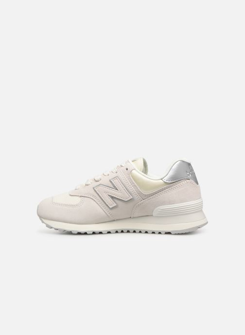 Sneakers New Balance WL574 Wit voorkant