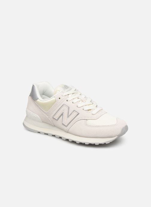 Trainers New Balance WL574 White detailed view/ Pair view
