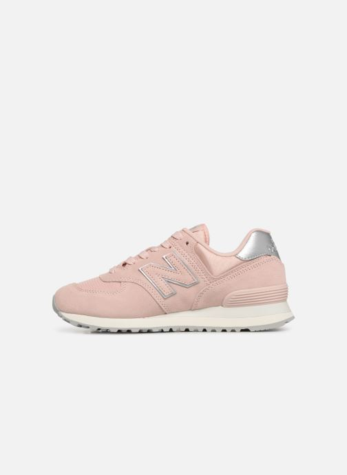 Baskets New Balance WL574 Rose vue face