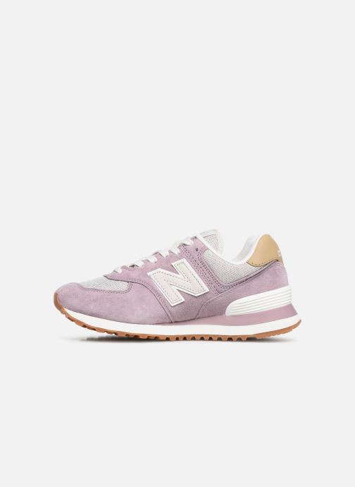 Trainers New Balance WL574 Purple front view