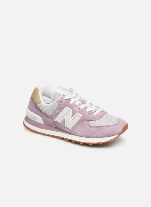 Trainers New Balance WL574 Purple detailed view/ Pair view