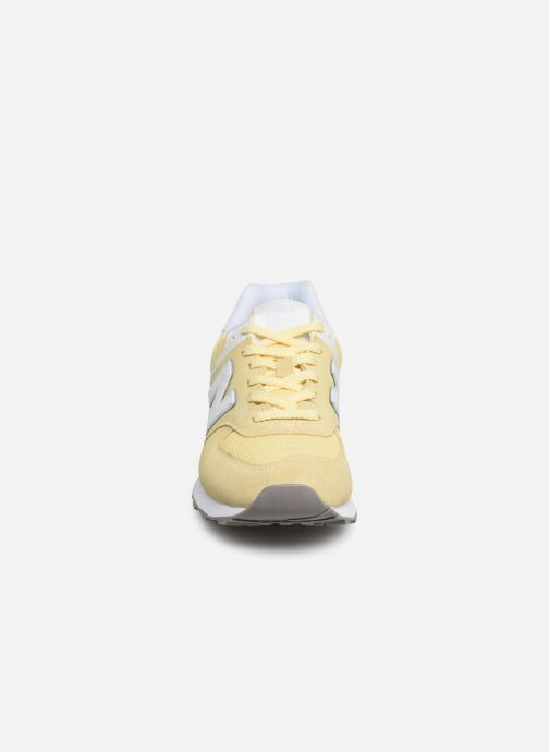Trainers New Balance WL574 Yellow model view