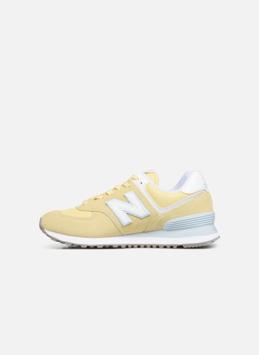 Trainers New Balance WL574 Yellow front view