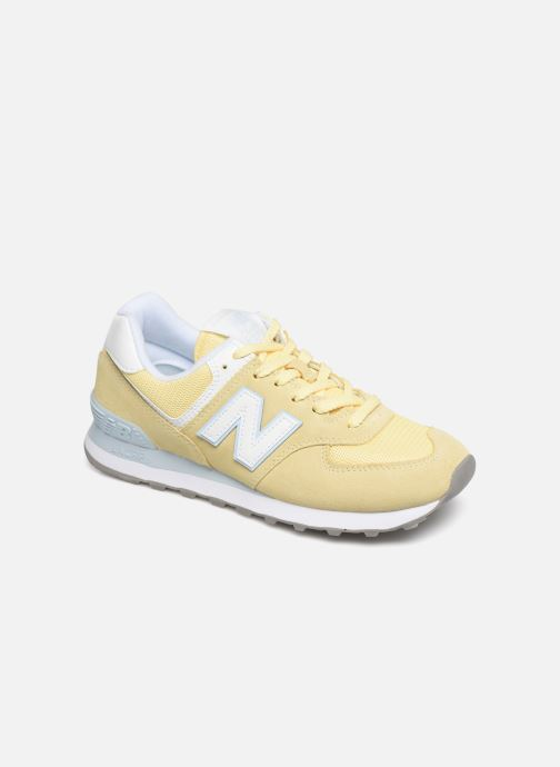 Trainers New Balance WL574 Yellow detailed view/ Pair view