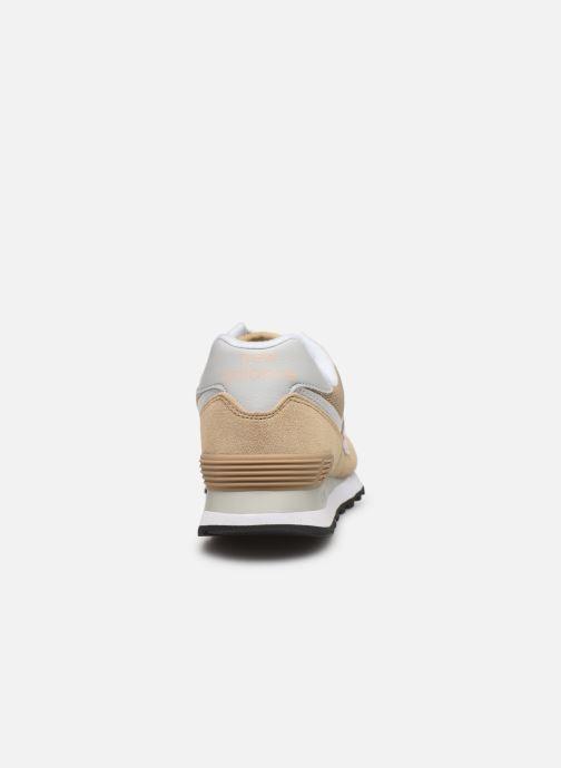 Baskets New Balance WL574 Beige vue droite