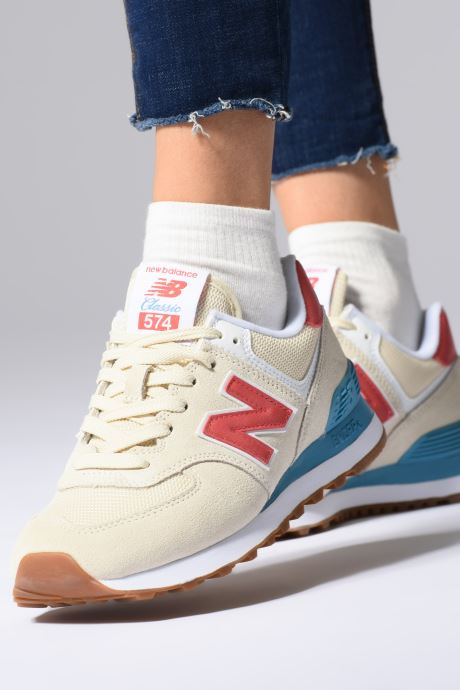 Trainers New Balance WL574 Blue view from underneath / model view
