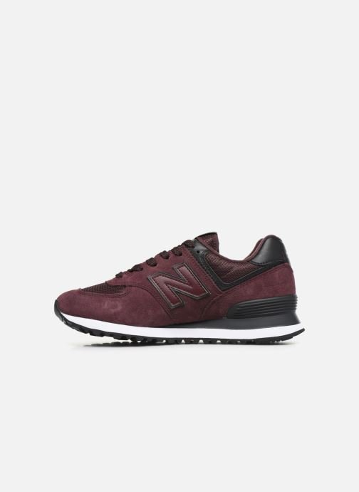 Trainers New Balance WL574 Burgundy front view