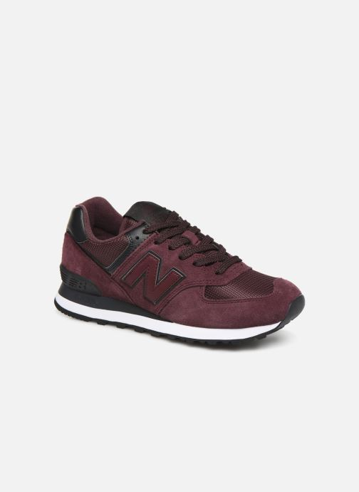 Trainers New Balance WL574 Burgundy detailed view/ Pair view