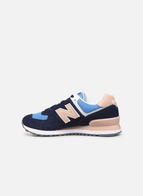 Baskets New Balance WL574 Bleu vue face