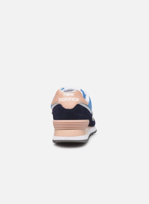 Sneakers New Balance WL574 Blå Se fra højre