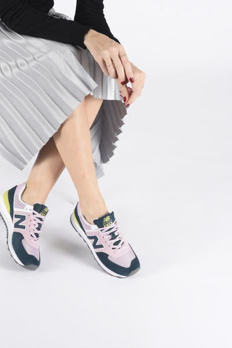 Sneakers New Balance WL574 Pink se forneden