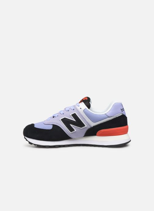 Baskets New Balance WL574 Violet vue face