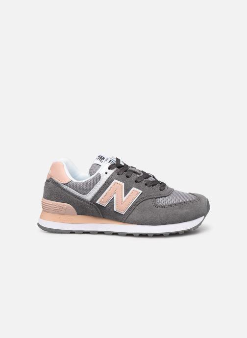 Sneaker New Balance WL574 grau ansicht von hinten