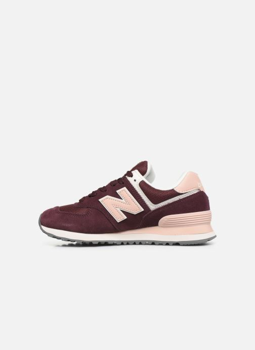 Baskets New Balance WL574 Bordeaux vue face