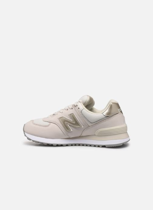 Baskets New Balance WL574 Beige vue face