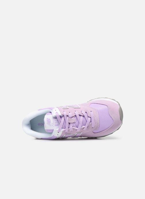 Baskets New Balance WL574 Violet vue gauche