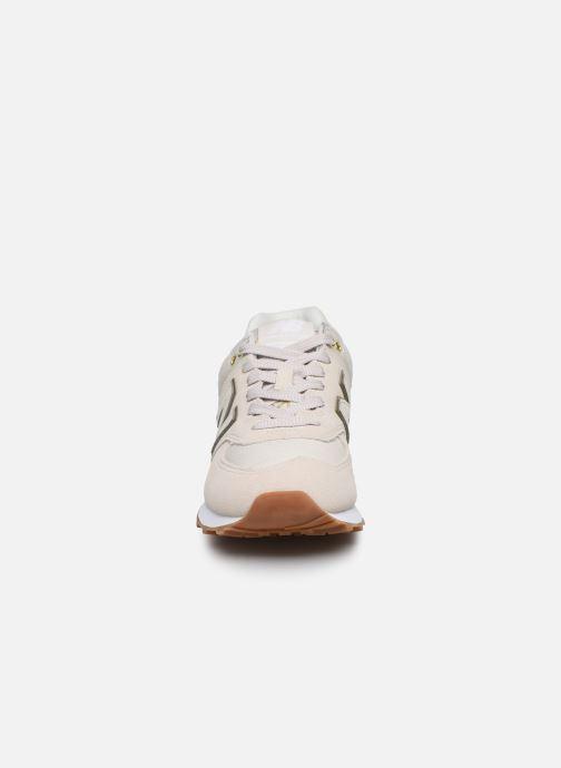 Sneaker New Balance WL574 beige schuhe getragen