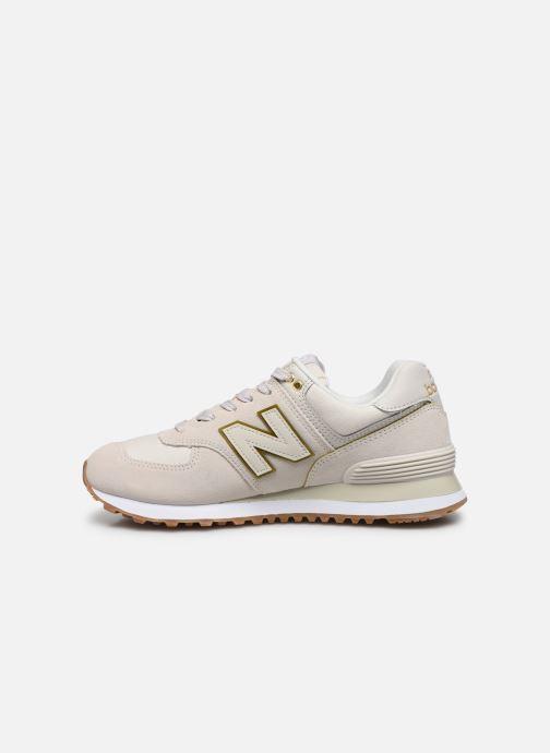 Sneaker New Balance WL574 beige ansicht von vorne