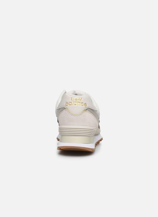 Sneaker New Balance WL574 beige ansicht von rechts
