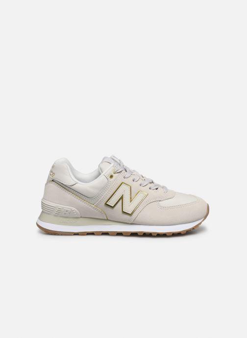 Sneaker New Balance WL574 beige ansicht von hinten
