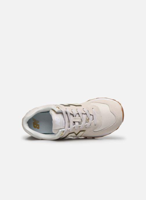 Sneaker New Balance WL574 beige ansicht von links
