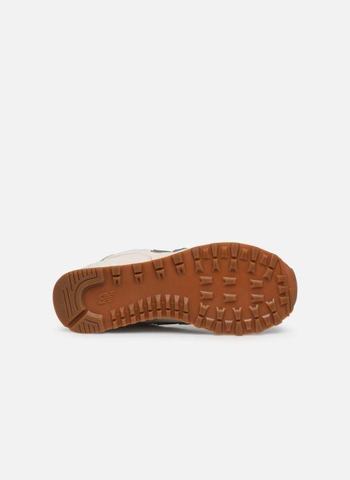 Sneaker New Balance WL574 beige ansicht von oben