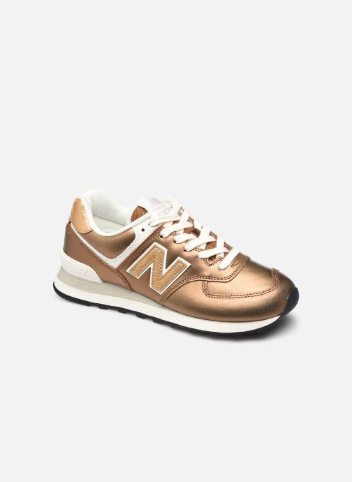 Sneaker New Balance WL574 gold/bronze detaillierte ansicht/modell