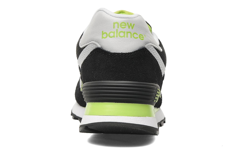 Sneakers New Balance WL574 Sort Se fra højre
