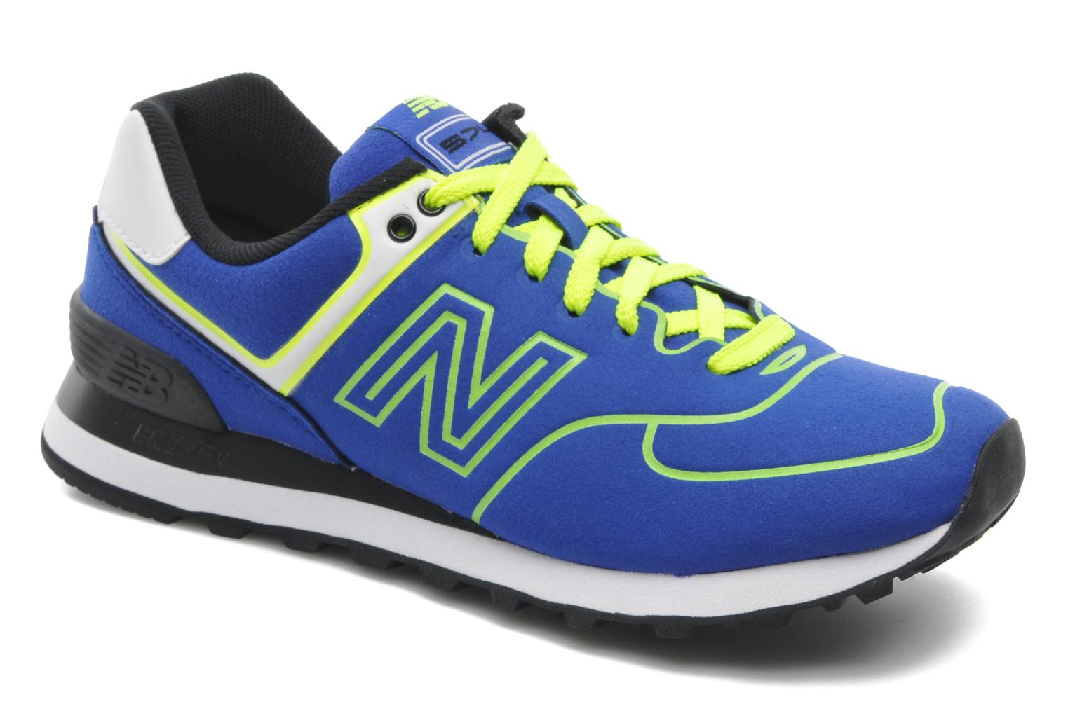 Trainers New Balance WL574 Blue detailed view/ Pair view
