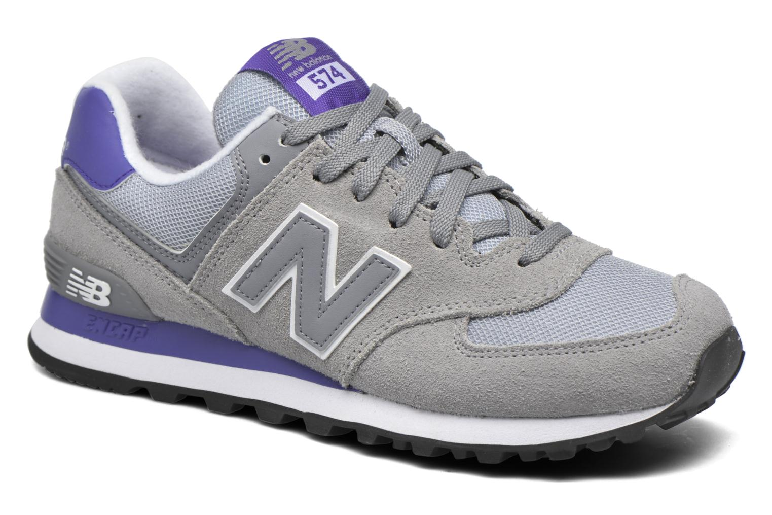 Trainers New Balance WL574 Grey detailed view/ Pair view