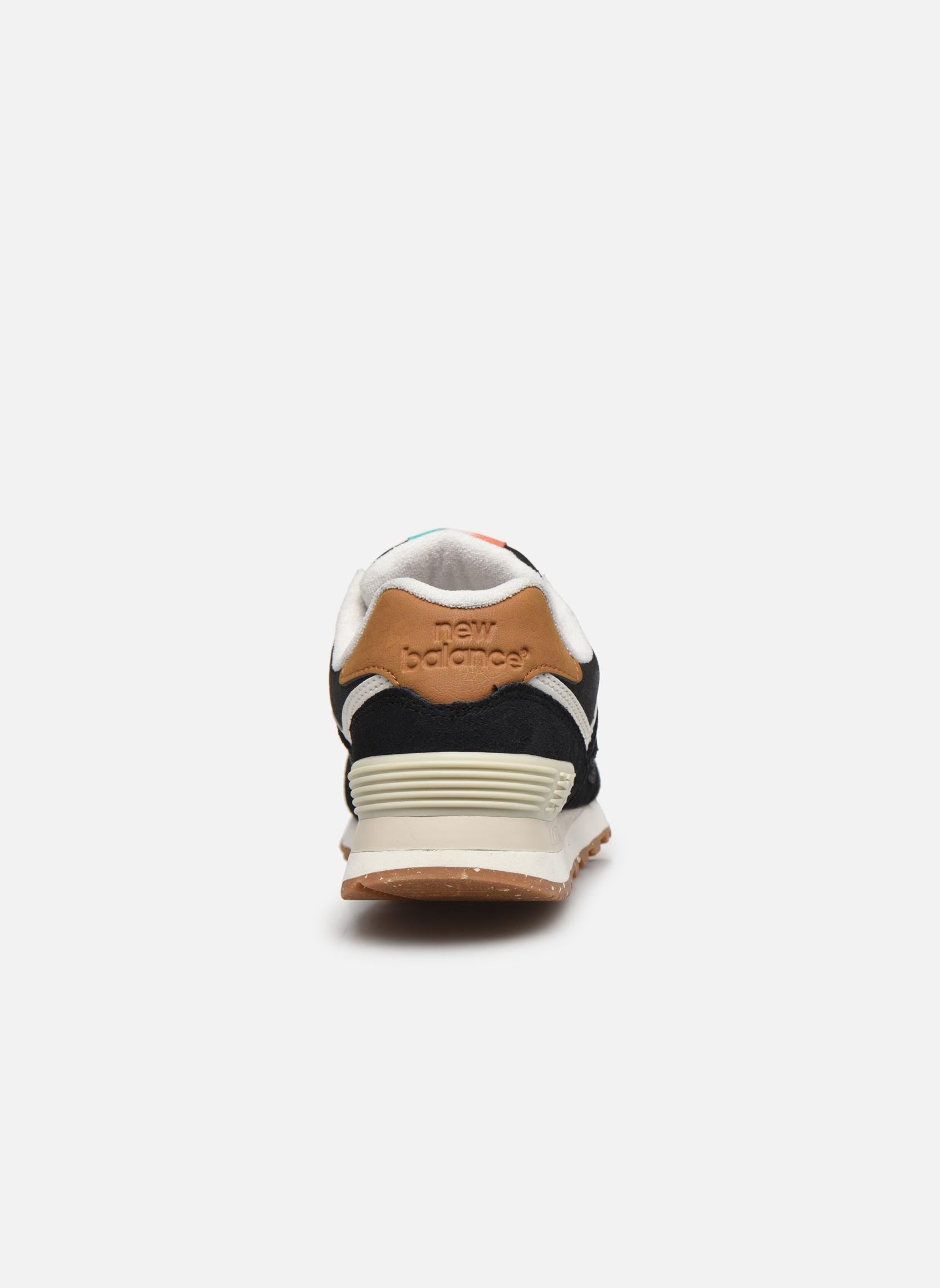 Sneaker New Balance WL574 schwarz ansicht von rechts