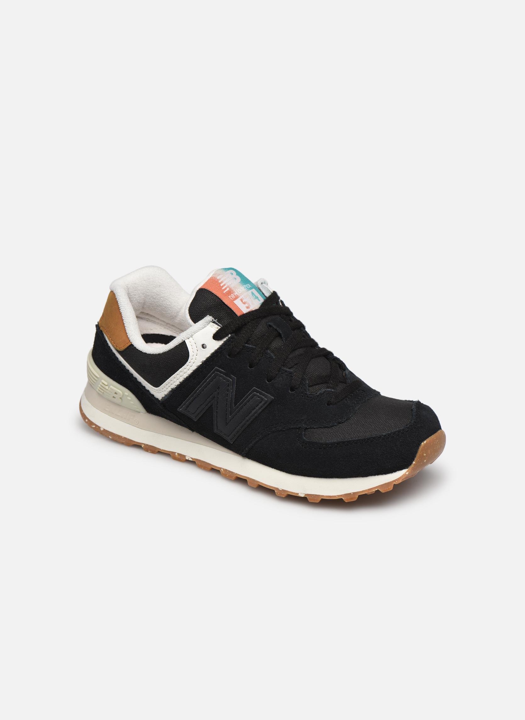 Sneakers New Balance WL574 Zwart detail