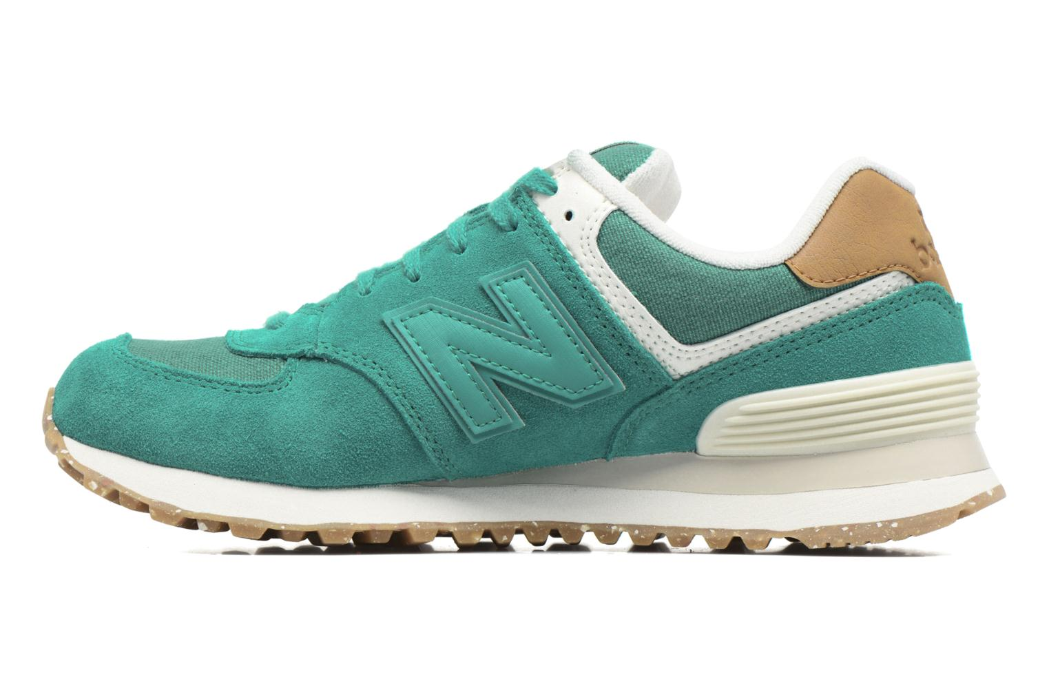 Trainers New Balance WL574 Green front view
