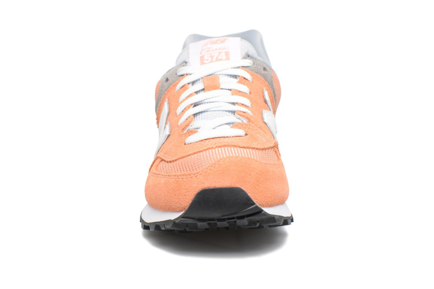 Trainers New Balance WL574 Orange model view
