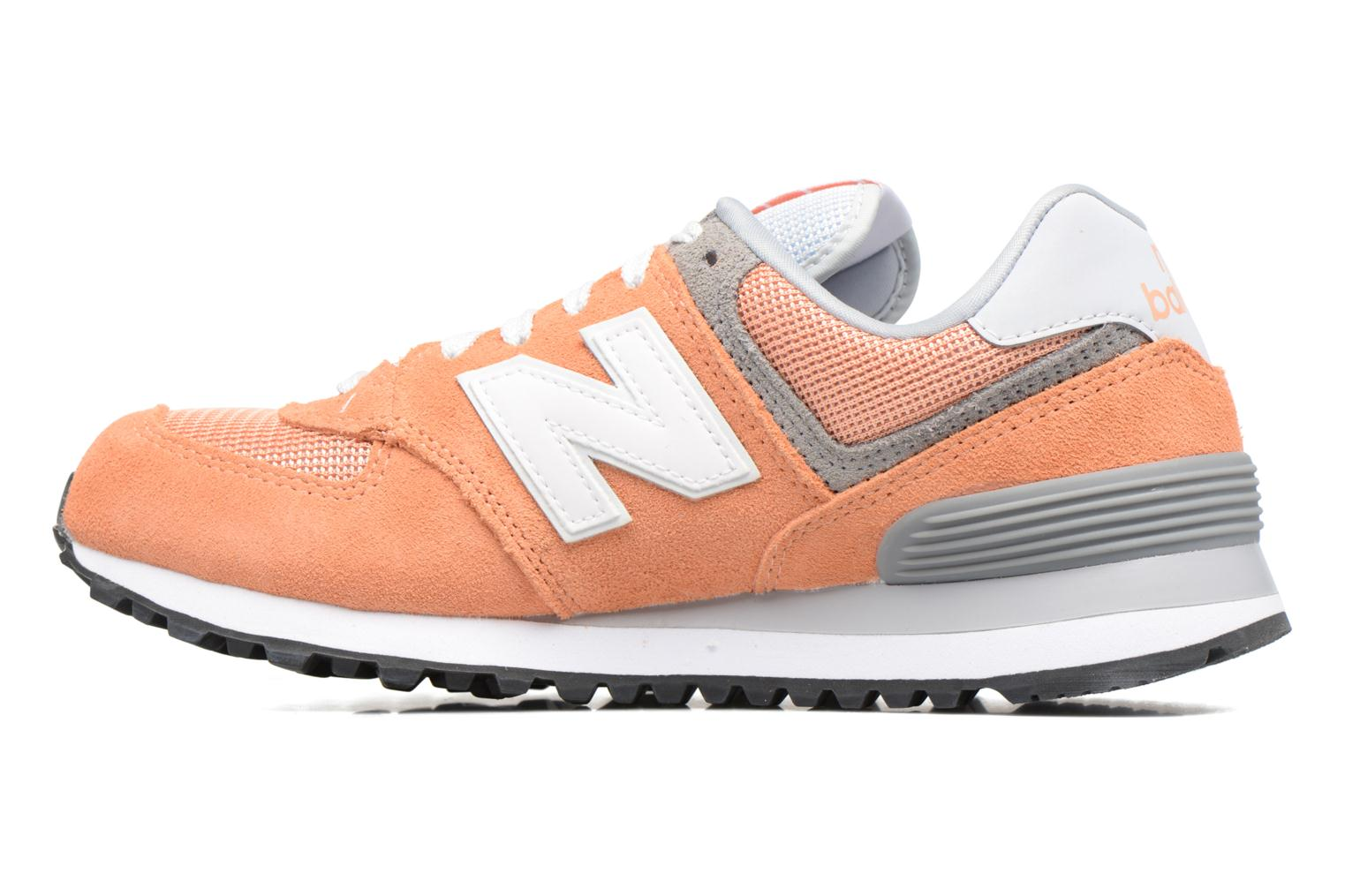Trainers New Balance WL574 Orange front view