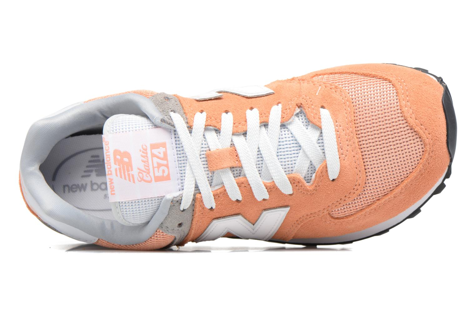 Trainers New Balance WL574 Orange view from the left