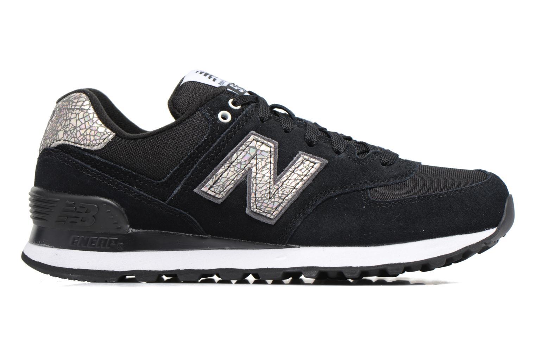 Sneaker New Balance WL574 schwarz ansicht von hinten