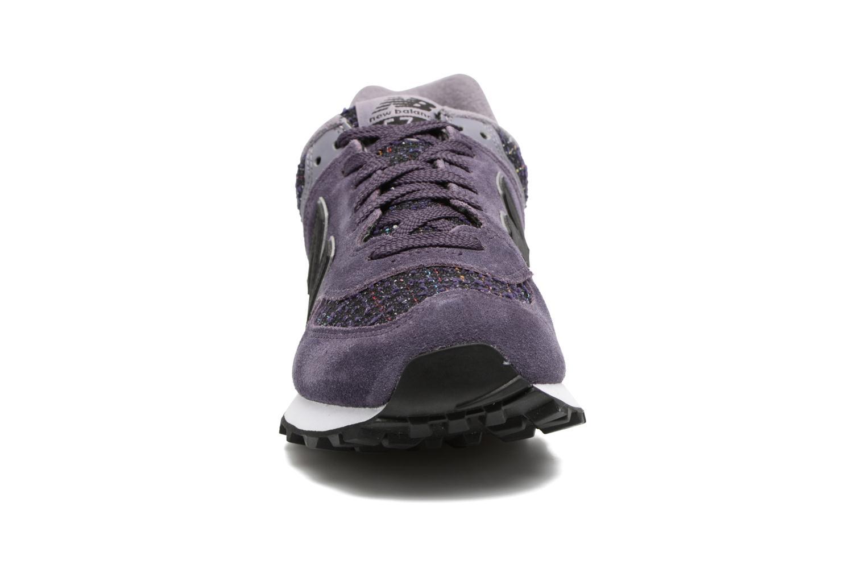 Trainers New Balance WL574 Purple model view