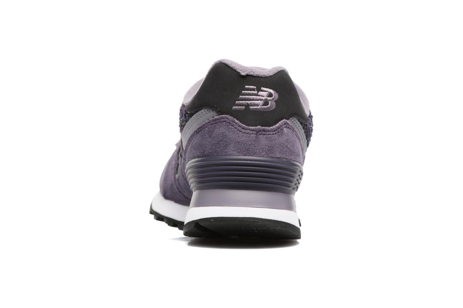 Trainers New Balance WL574 Purple view from the right