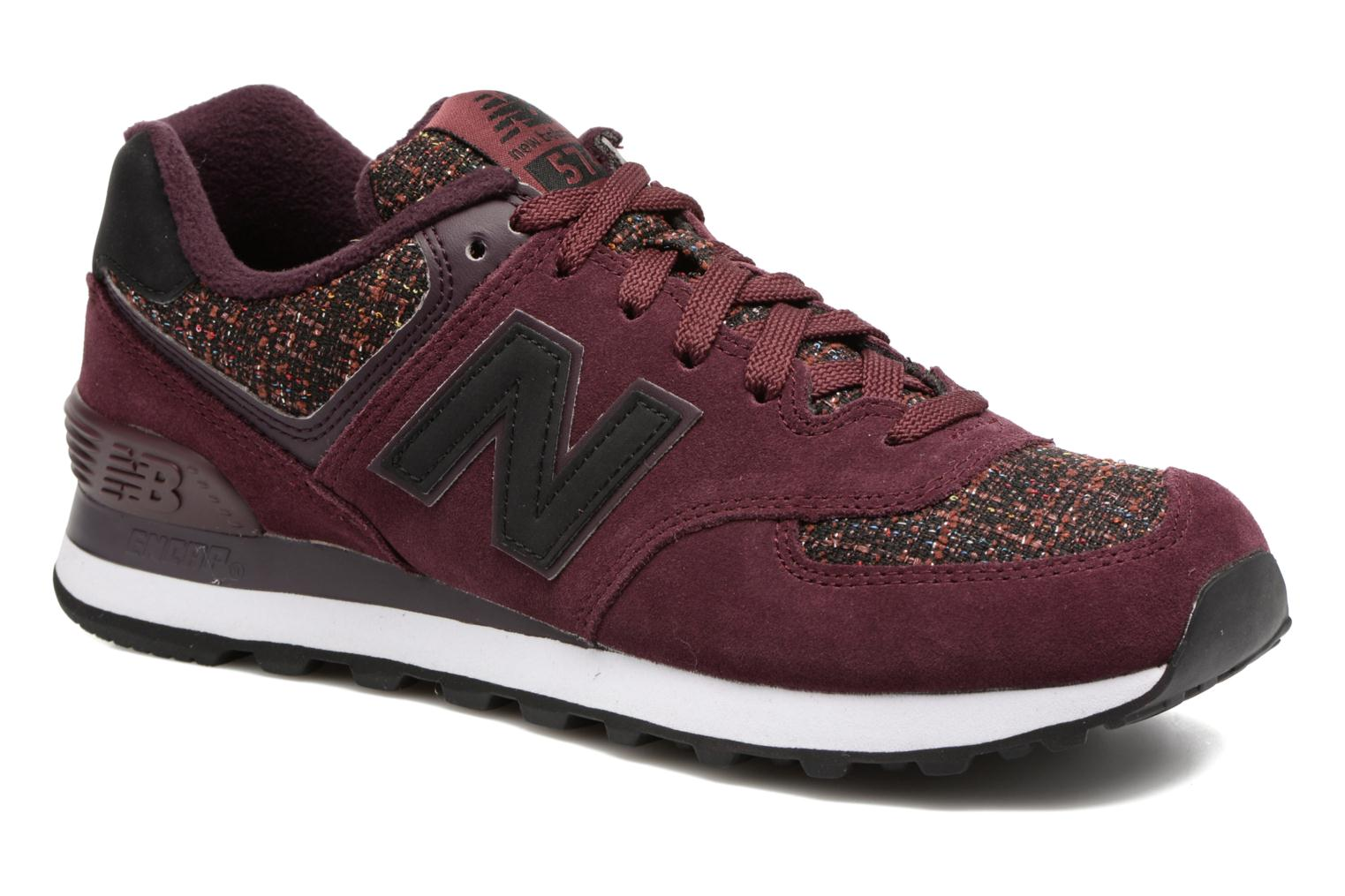 Sneakers New Balance WL574 Bordeaux detail