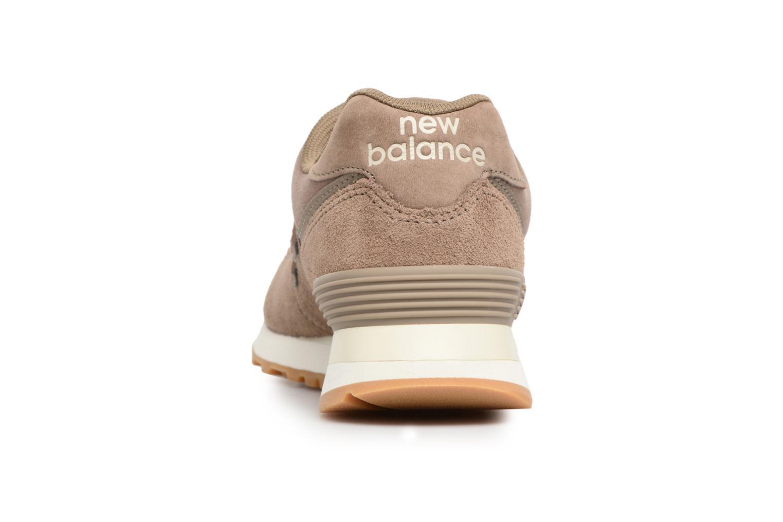 Baskets New Balance WL574 Marron vue droite