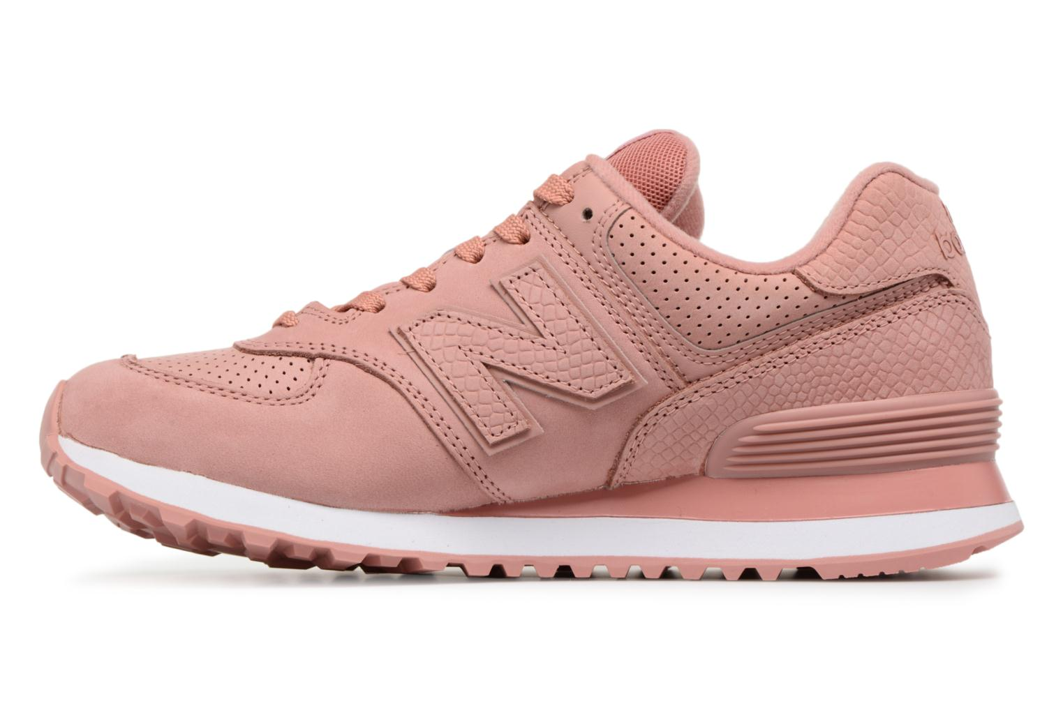 Sneakers New Balance WL574 Rosa immagine frontale