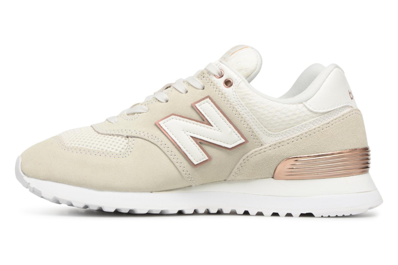 Sneakers New Balance WL574 Beige voorkant