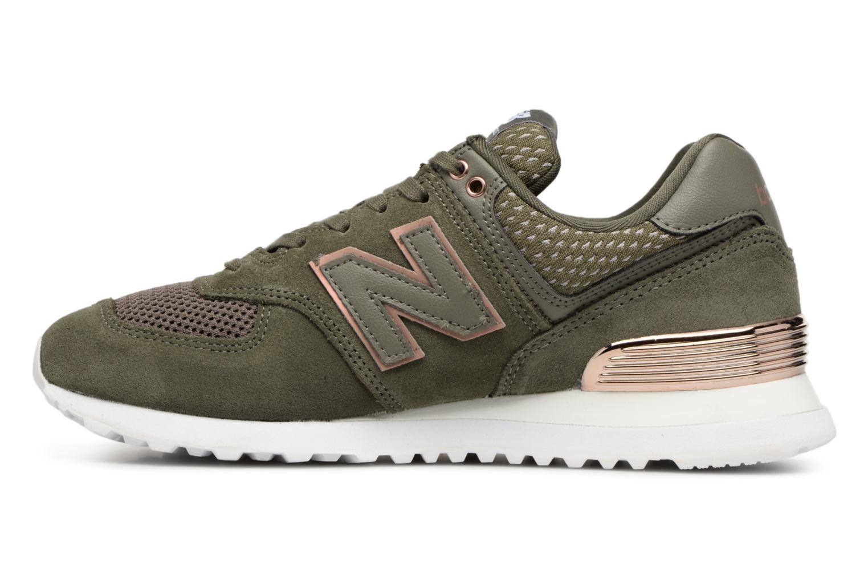 Sneakers New Balance WL574 Groen voorkant
