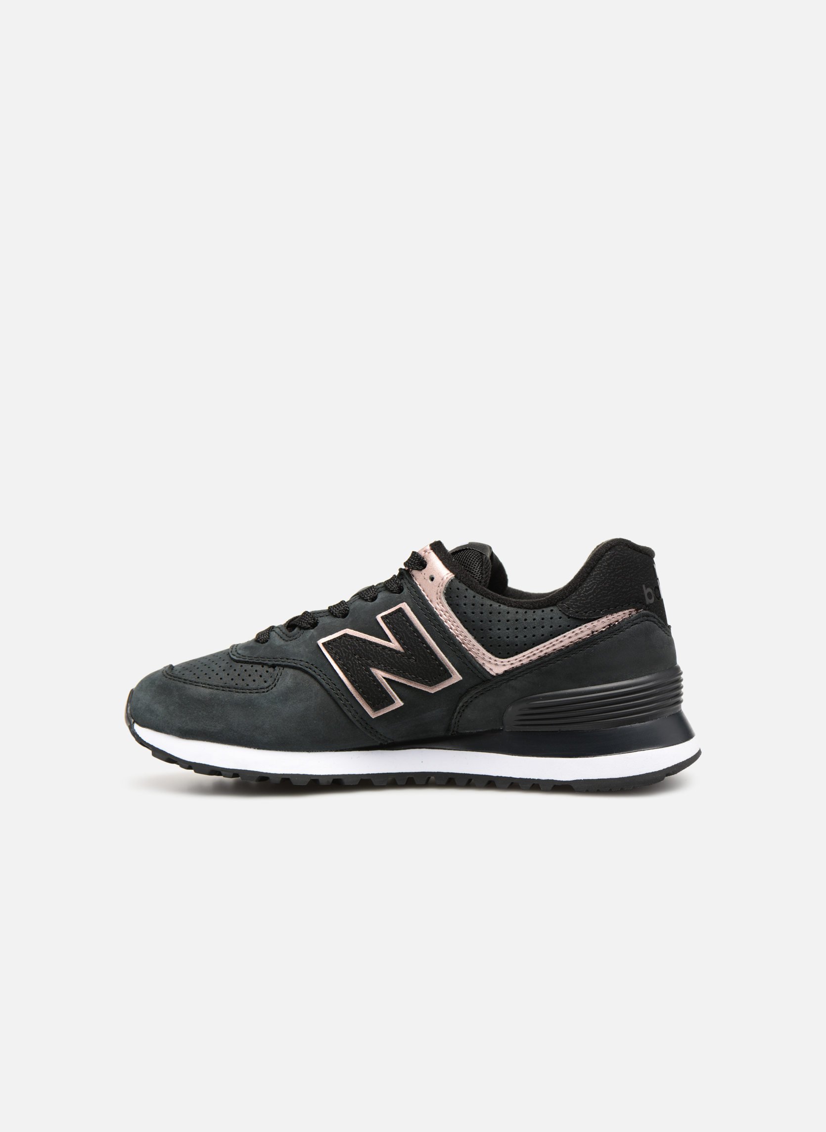 Sneakers New Balance WL574 Zwart voorkant