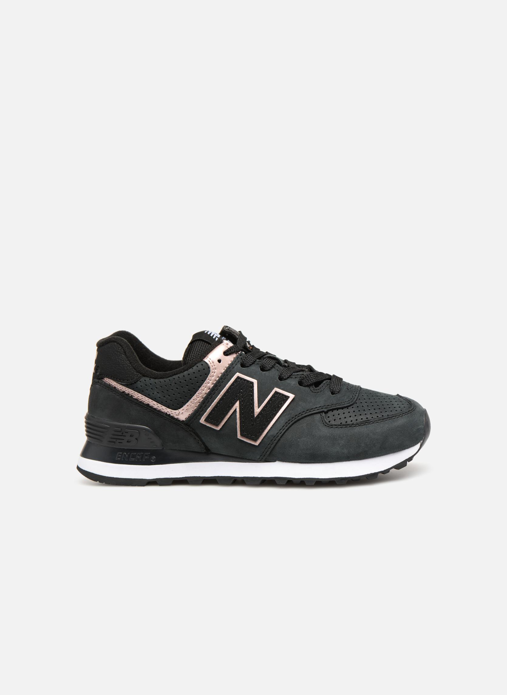Sneakers New Balance WL574 Zwart achterkant