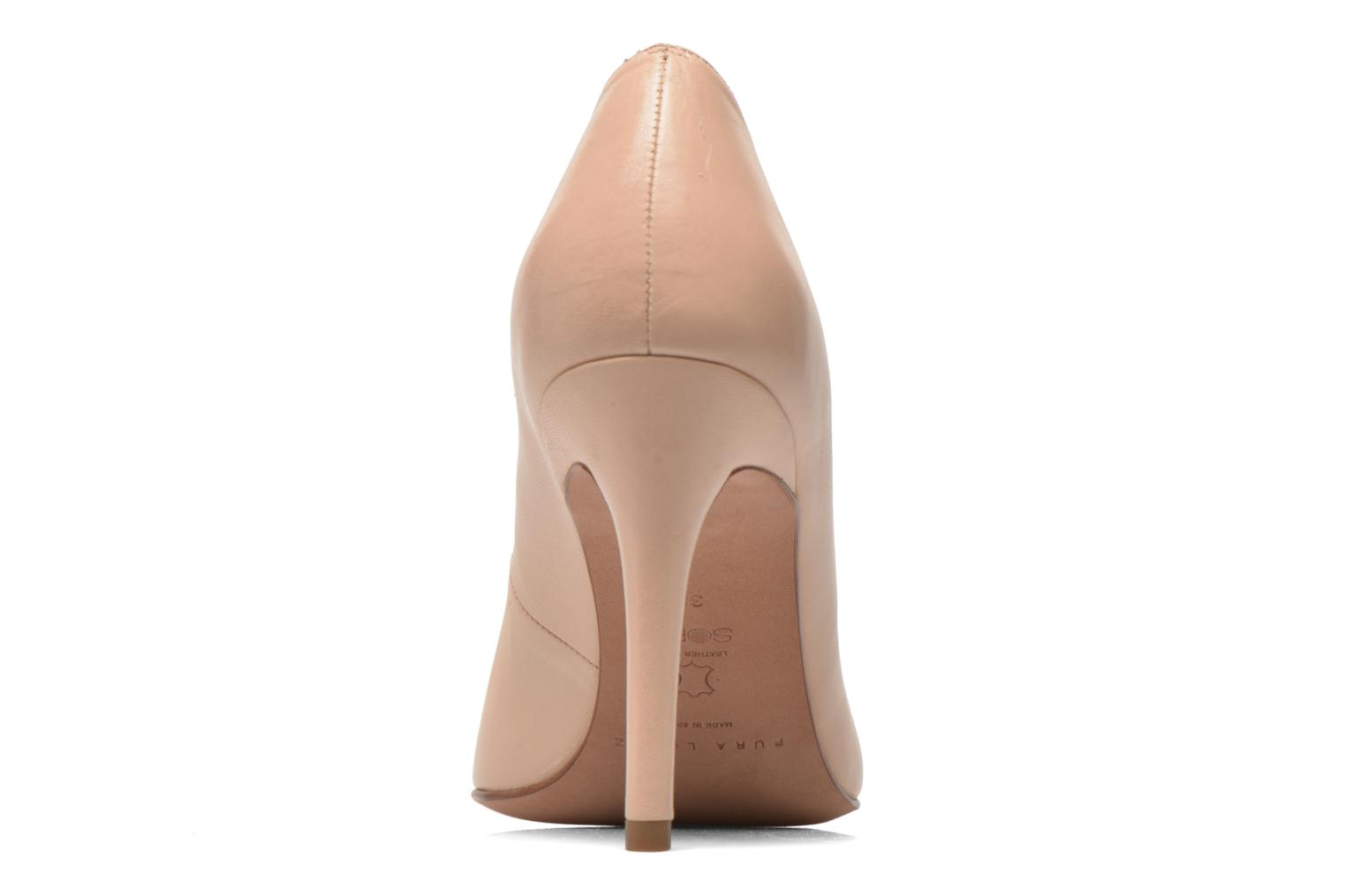 High heels Pura Lopez Astoria Beige view from the right