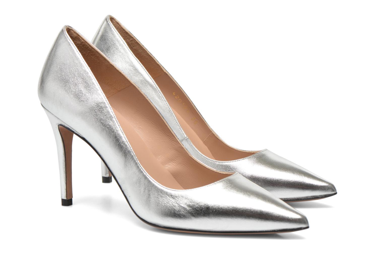 High heels Pura Lopez Astoria Silver 3/4 view